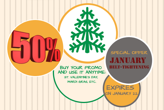 50% discount on all applications - Cool Tabs facilitates January belt-tightening