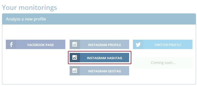 Analyze a new hashtag